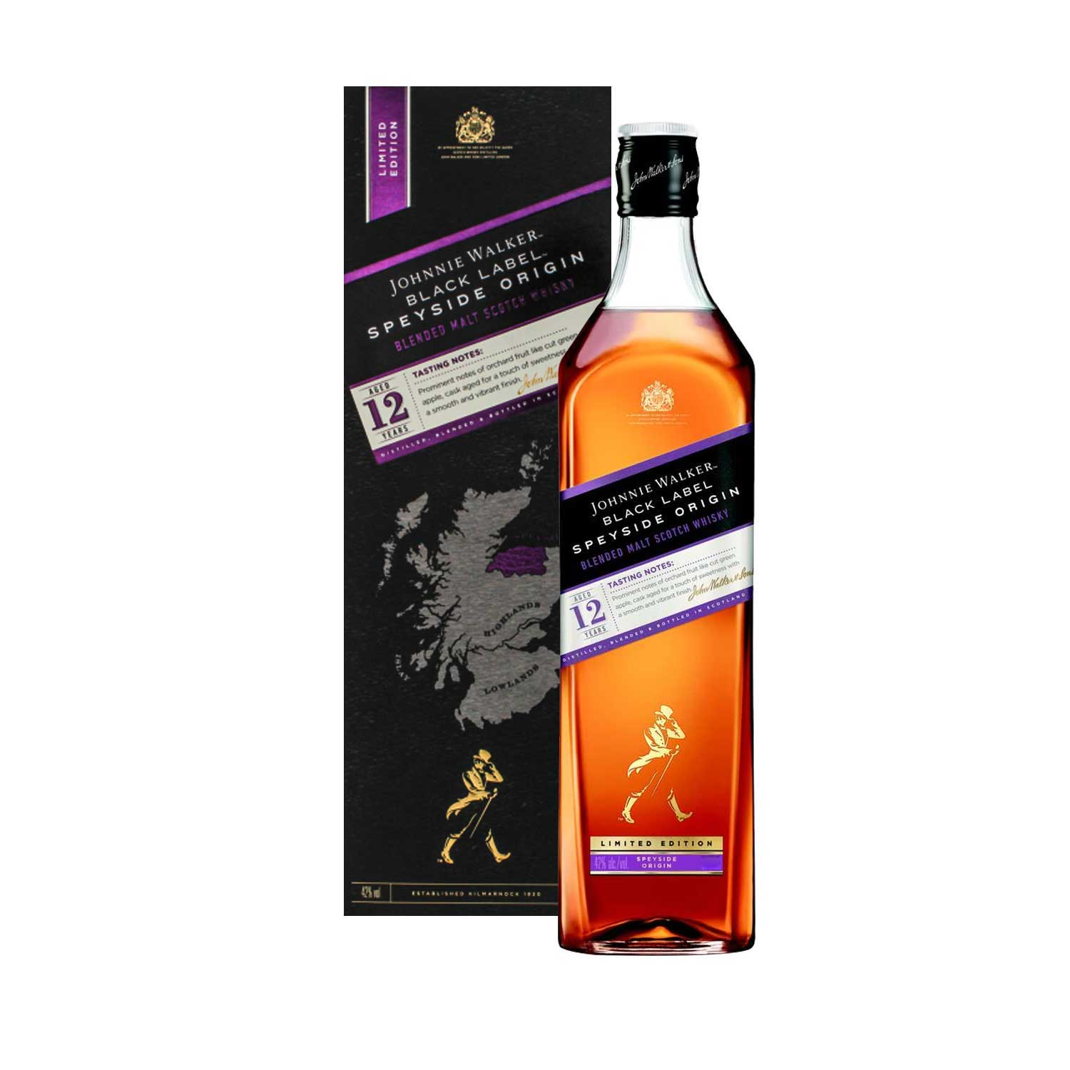 JOHNNIE WALKER BLACK LABEL SPEYSIDE ORIGIN, 1L